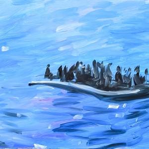 MS017_01_Flüchtlingsboot116x75