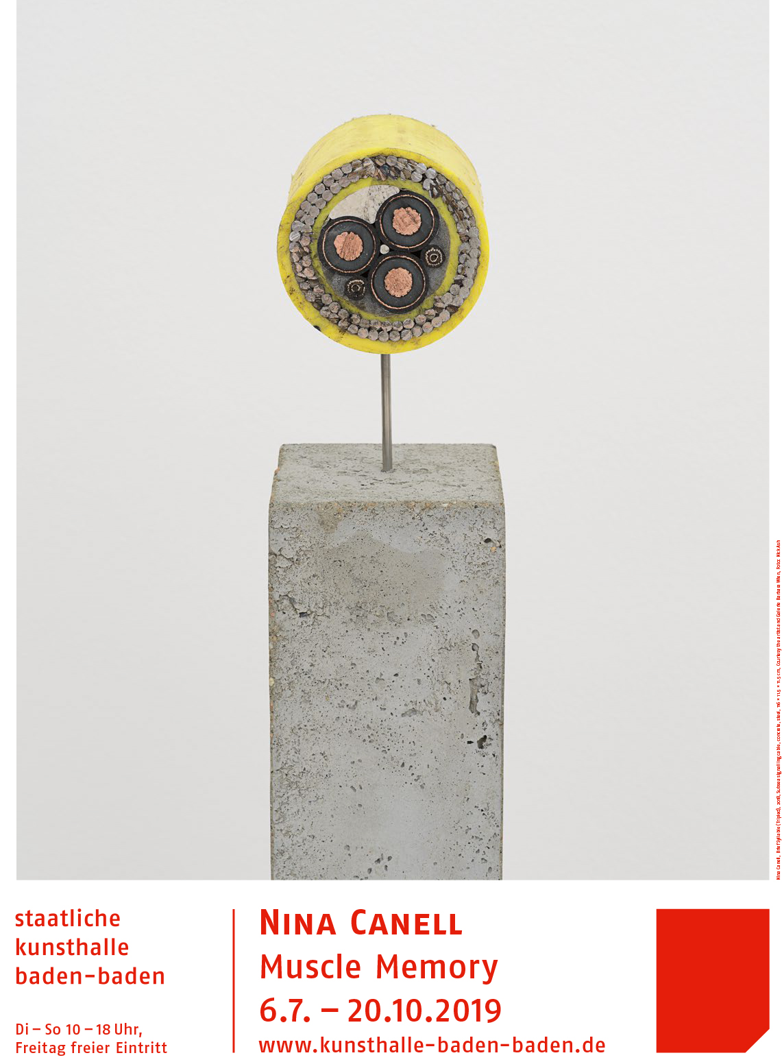 Nina-Canell,-Brief-Syllable-(Tripled),-2018,-Subsea-signalling-cable,-concrete,-steel,-116-×-11.5-×-11.5-cm,-Courtesy-the-artist-and-Galerie-Barbara-Wien_Foto_NickAsh
