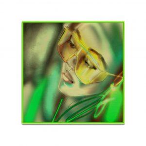 LG_KF303_40x40_green, Libbsclas Gallery, Offenburg, Kunstgalerie, Ortenau